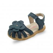 Сандалии детские кожаные с цветком 3D Дракоша, размеры с 21 по 26, zak105-LZflower