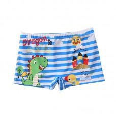 Плавательные шорты-боксеры для мальчиков, с поясом для завязывания, zak108-203
