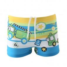 Плавательные шорты-боксеры для мальчиков, с поясом для завязывания, zak108-143