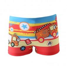 Плавательные шорты-боксеры для мальчиков, с поясом для завязывания, zak108-144