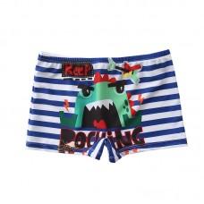 Плавательные шорты-боксеры для мальчиков, с поясом для завязывания, zak108-145