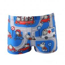 Плавательные шорты-боксеры для мальчиков, с поясом для завязывания, zak108-138
