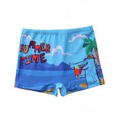 Плавательные шорты-боксеры для мальчиков, с поясом для завязывания, zak108-149