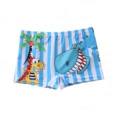 Плавательные шорты-боксеры для мальчиков, с поясом для завязывания, zak108-140
