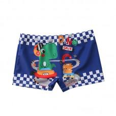 Плавательные шорты-боксеры для мальчиков, с поясом для завязывания, zak108-202