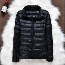 Куртка женская воротник стойка на утином пуху, zak12-105