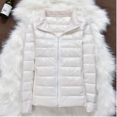 Куртка женская воротник стойка на утином пуху, zak12-106