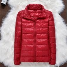 Куртка женская воротник стойка на утином пуху, zak12-108