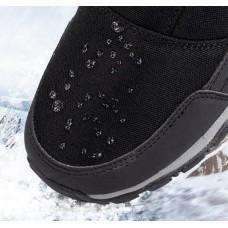 Сапоги женские зимние водонепроницаемые с боковой молнией белые,  zak120-D2002-6