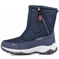 Сапоги мужские зимние водонепроницаемые с боковой молнией синие,  zak120-D2002-2
