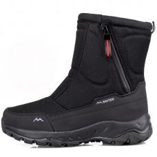 Сапоги мужские зимние водонепроницаемые с боковой молнией черные,  zak120-D2002-3