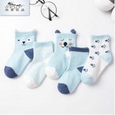 Носки детские с рисунком 5 штук хлопок, zak124-1607597399538-2