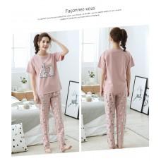 Комплект пижамный женский домашний хлопок, zak126-NJR-RS515