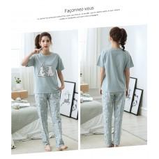 Комплект пижамный женский домашний хлопок, zak126-NJR-RS516