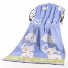 Полотенце хлопковое 3-слойное марлевое 140*70 см, zak140-8002-15