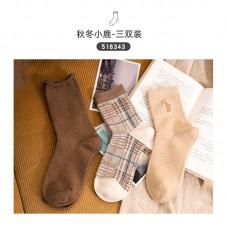 Набор носков хлопок Caramella 22-25см 3шт, zak142-518343