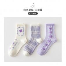 Набор носков хлопок Caramella 22-25см 3шт, zak142-518303