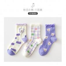 Набор носков хлопок Caramella 22-25см 3шт, zak142-518353