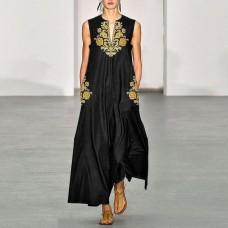 Платье без рукавов с цифровым принтом v-образным вырезом, zak155-8632A-2