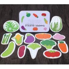 """Детская развивающая игрушка, пазлы """"Овощи"""" 17*12*3см, вес 0,25кг. Zak19-585701103963.1"""