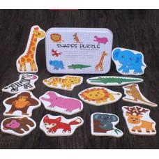 """Детская развивающая игрушка, пазлы """"Зоопарк"""" 17*12*3см, вес 0,25кг. Zak19-585701103963.2"""