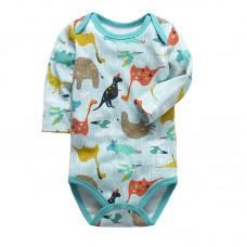 Боди детский длинный рукав хлопок Mother Kids, zak20-DHW001-19