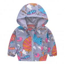 """Куртка детская """"ветровка"""", подклад шелк, вес 0.12 kg, zak25- JK8004.17"""