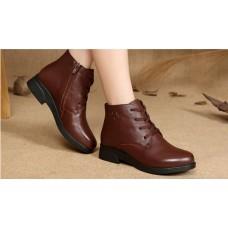 Ботинки кожаные утепленные Wangnai , zak41-188071
