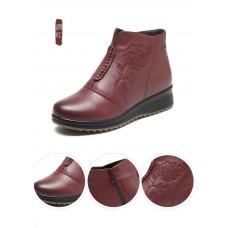 Ботинки кожаные утепленные Wangnai, zak41-188109
