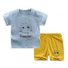 Комплект детский, футболка и шорты хлопок,  zak46-565894453315-12