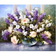 Картина по номерам Цвветы 40*50см,  zak47-162