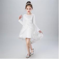 Платье нарядное белое, zak48-XCX-2001