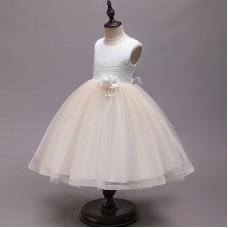 Платье нарядное бежевое, zak48-Y002