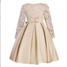 Платье нарядное бежевое, zak48-1359-2