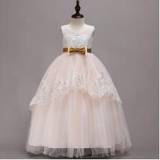 Платье нарядное бежевое, zak48-1381-1