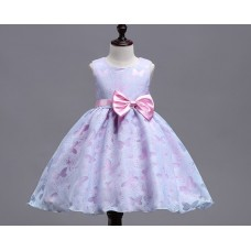 Платье нарядное бабочки фиолетовое, zak48-1537