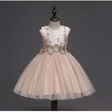 Платье нарядное бежевое , zak48-1397