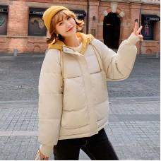 Куртка женская удлиненная, цвет бежевый, zak115-8609QC4