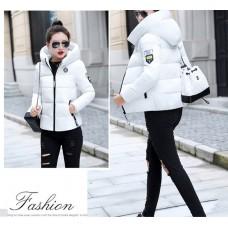 Куртка женская удлиненная, цвет белый, zak115-803HP