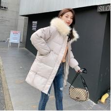Куртка женская удлиненная, цвет бежевый, zak115-qq-1