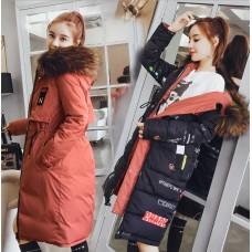 Куртка женская удлиненная двусторонняя, цвет красный, zak115-6606-4