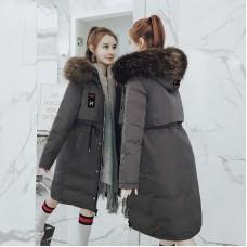 Куртка женская удлиненная двусторонняя, цвет серый, zak115-6606