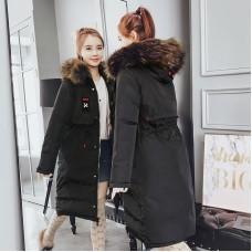 Куртка женская удлиненная двусторонняя, цвет черный, zak115-6606-1