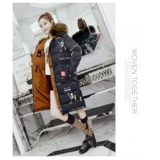 Куртка женская удлиненная двусторонняя, цвет бронза, zak115-6606-2