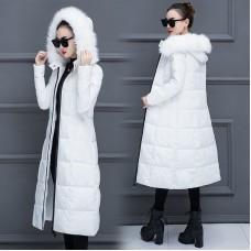 Куртка женская удлиненная, цвет белый, zak115-901