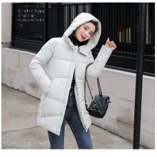Куртка женская удлиненная, цвет белый, zak115-8802XFX