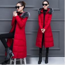 Куртка женская удлиненная, цвет бордовый, zak115-901-1