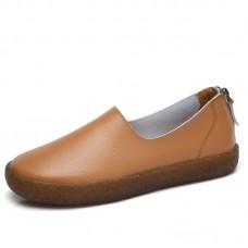 Ботинки кожаные с молнией на толстой подошве, zak88-W028-4