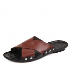 Тапочки мужские кожаные, модель zak88-d5811