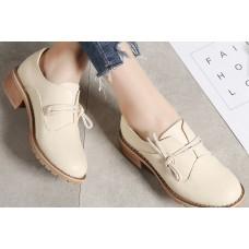 Туфли кожаные декорированные шнурком, модель zak88-f5171